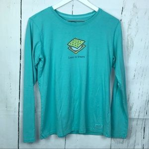 Life is Good Less is Smore Graphic Long Sleeve Top